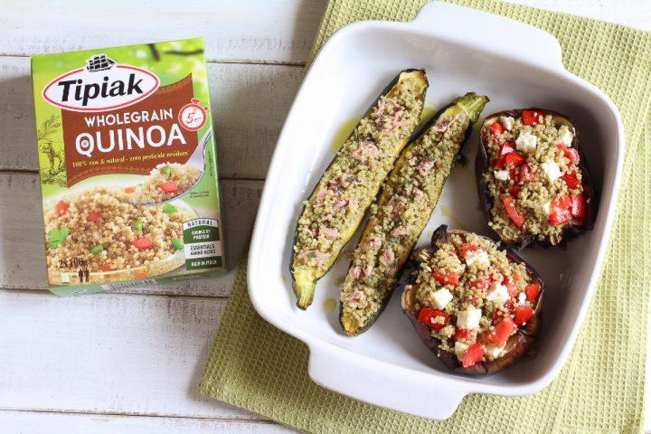 barchette di zucchine e melanzane con quinoa