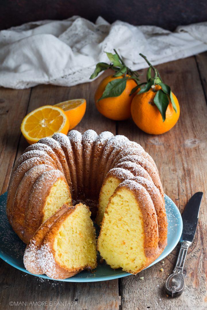 pan d'arancio con arancia frullata