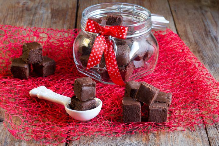 fudge al cioccolato con latte condensato