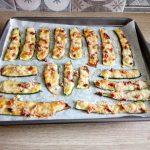 Zucchine gratinate con mozzarella e speck
