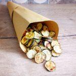 Chips di zucchine croccanti al forno