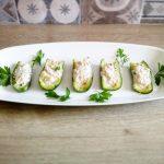 Barchette di zucchine fredde al tonno