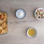 Pasta al forno con minestrone surgelato