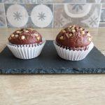 Muffin al cioccolato con albumi