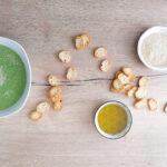 Crema di broccoli con semi di sesamo