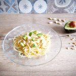 Spaghetti mandorlati con avocado