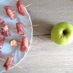 Bastoncini di mela e prosciutto