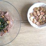 Crema di fave, cicoria e noci