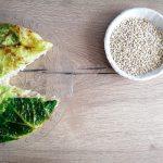 Torta salata con orzo e verza