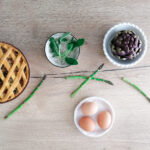 Crostata di asparagi e gambi di carciofi
