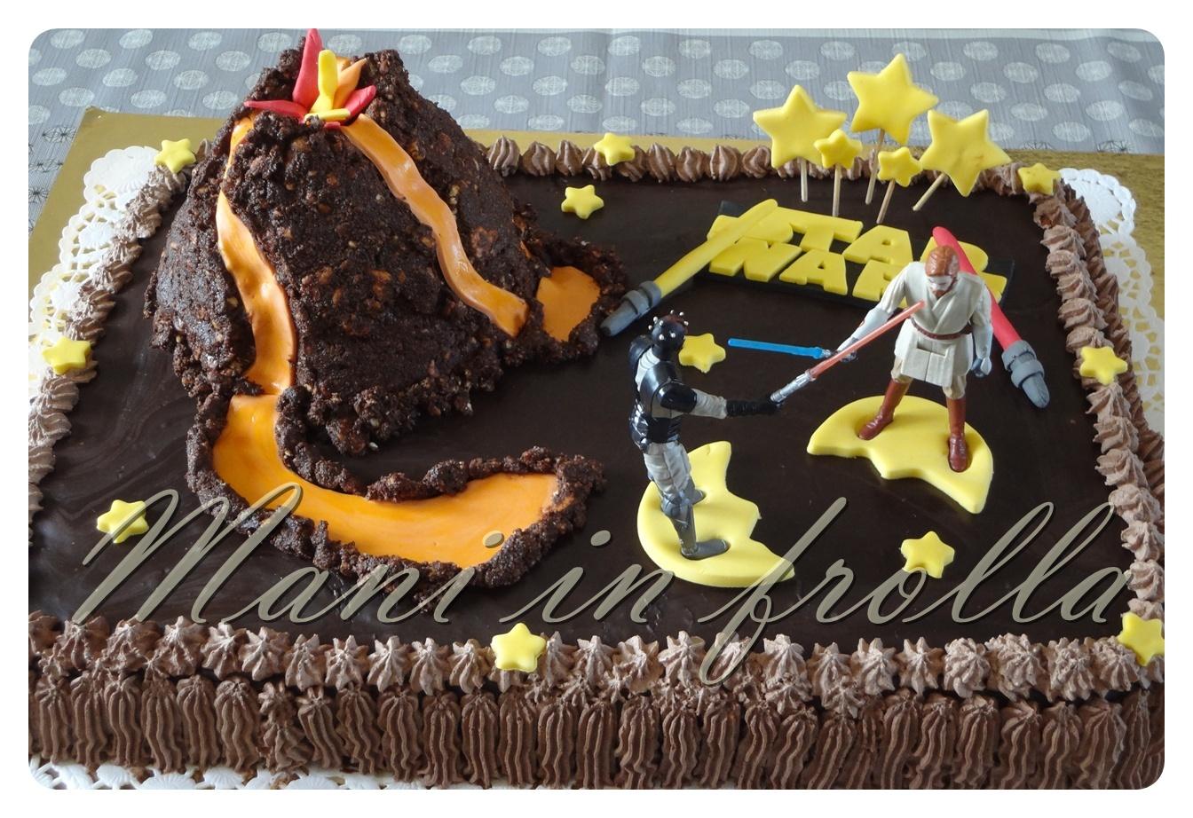 Estremamente Torta di compleanno Star Wars con vulcano   Mani in frolla ZB01