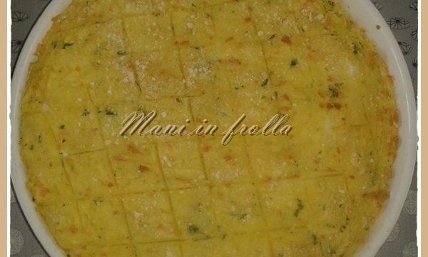 Gateau di patate con mozzarella e speck