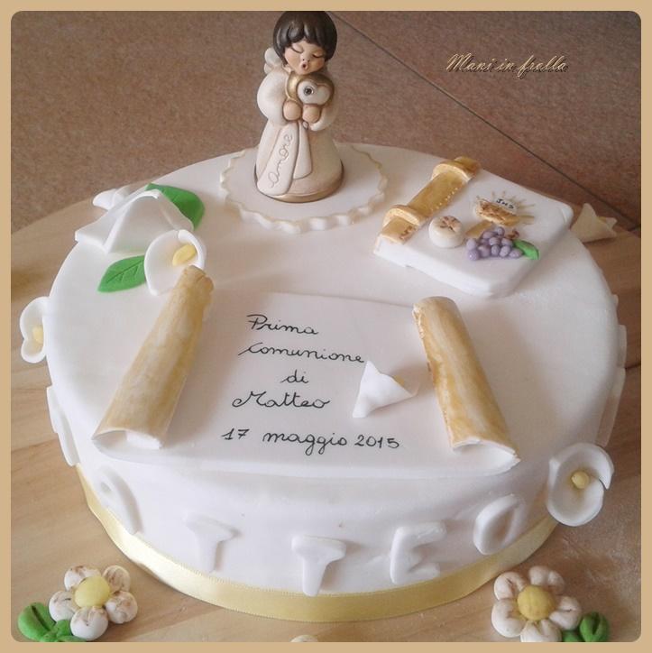 Super Torta prima comunione | Mani in frolla HG26