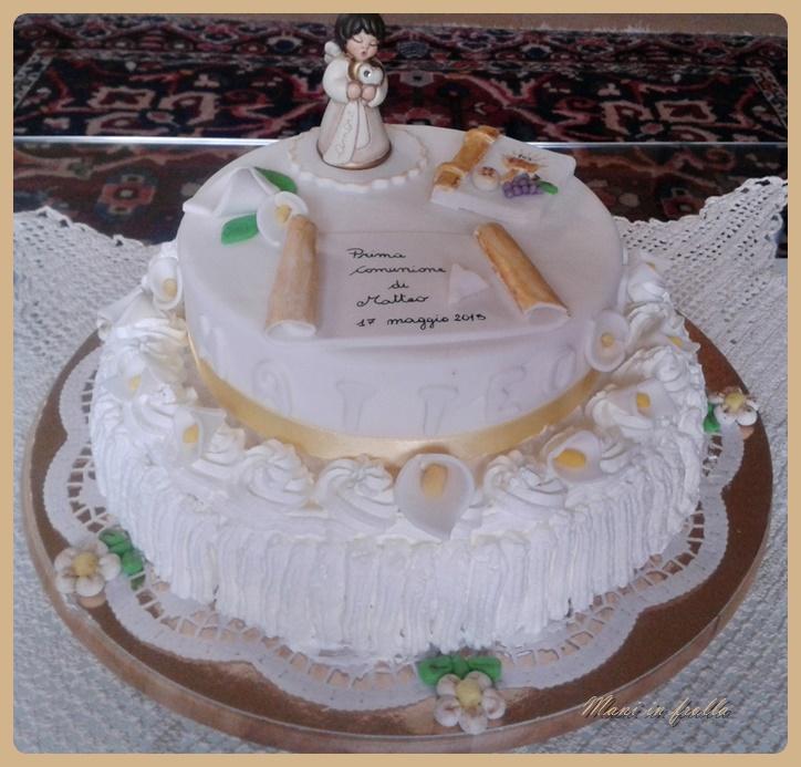 Torta prima comunione mani in frolla for Decorazione torte prima comunione