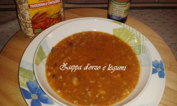 Zuppa d'orzo e farro con legumi