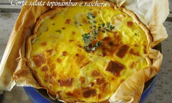 Torta salata topinambur e Raschera