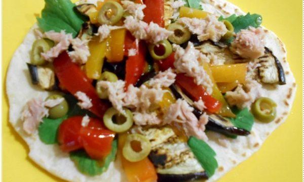 Piadina grigliata con mix di verdure