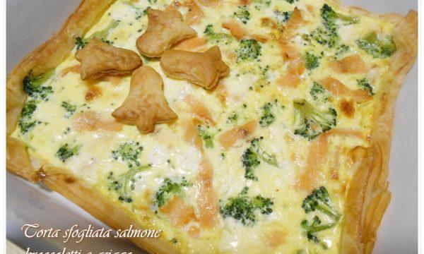 [:it]Torta sfogliata salmone broccoletti e asiago[:]