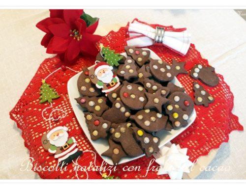 Biscotti natalizi con frolla al cacao