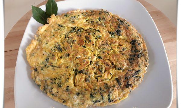Frittata spinaci e mozzarella speedy