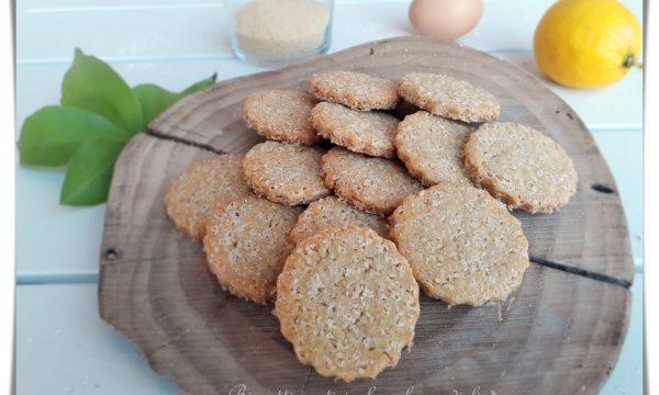 Biscotti rustici al profumo di limone – senza burro