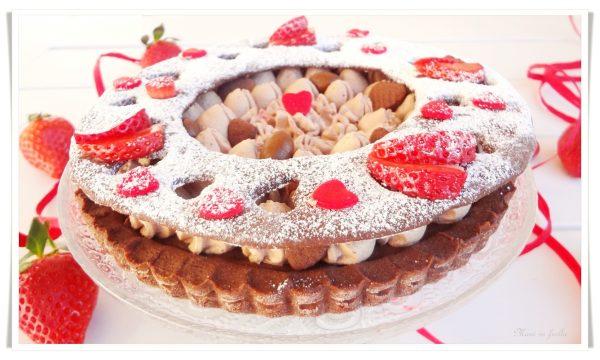 Crostata San Valentino con crema alla Nutella
