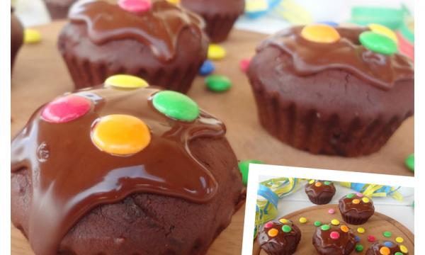 Muffin di Carnevale al cioccolato