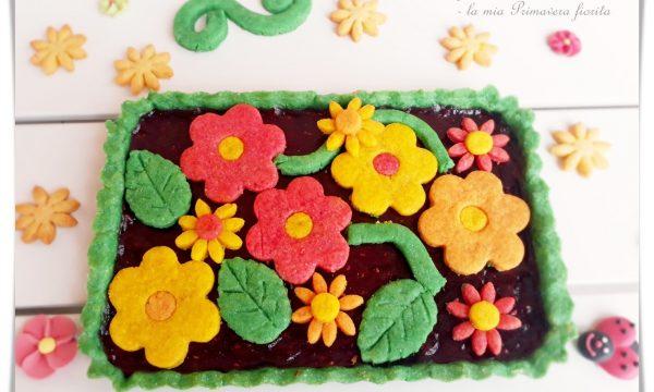 Crostata con frolla colorata – la mia Primavera fiorita
