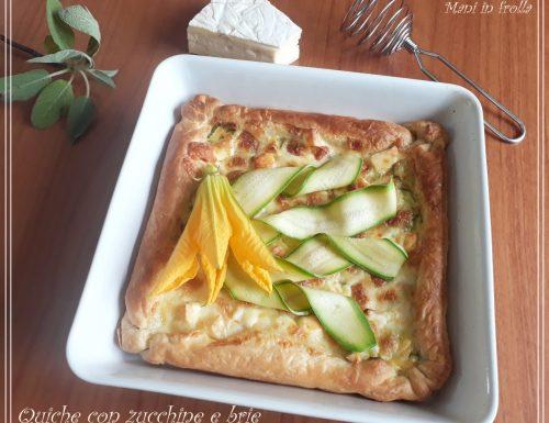 Quiche con zucchine e Brie