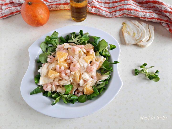 Insalata di finocchi arance e gamberetti
