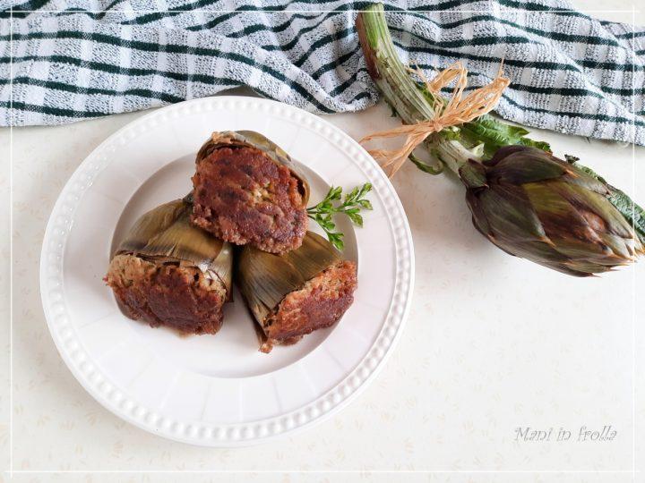 Carciofi ripieni senza carne