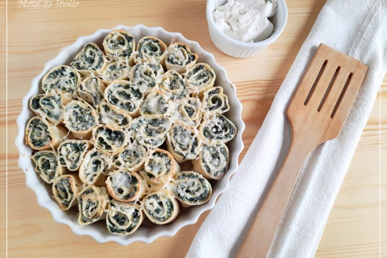 Crespelle con ricotta e spinaci al forno