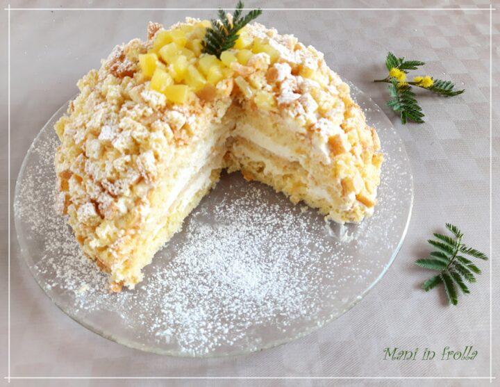 Zuccotto mimosa con crema all'ananas
