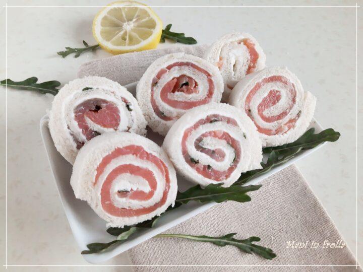 Girelline salate con salmone e formaggio