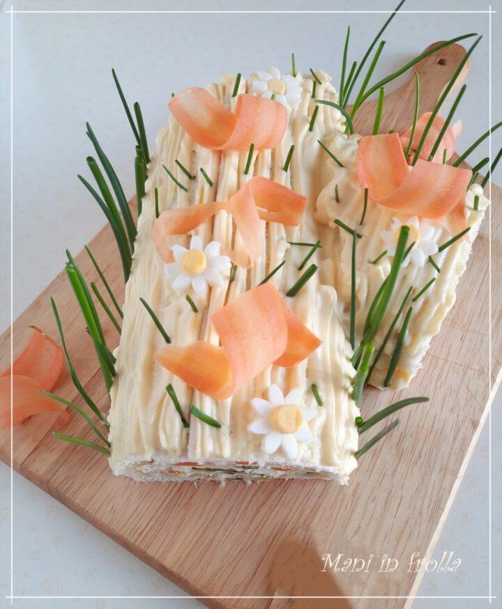 Tronchetto di primavera con insalata russa