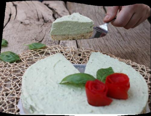 Cheesecake salata al pesto