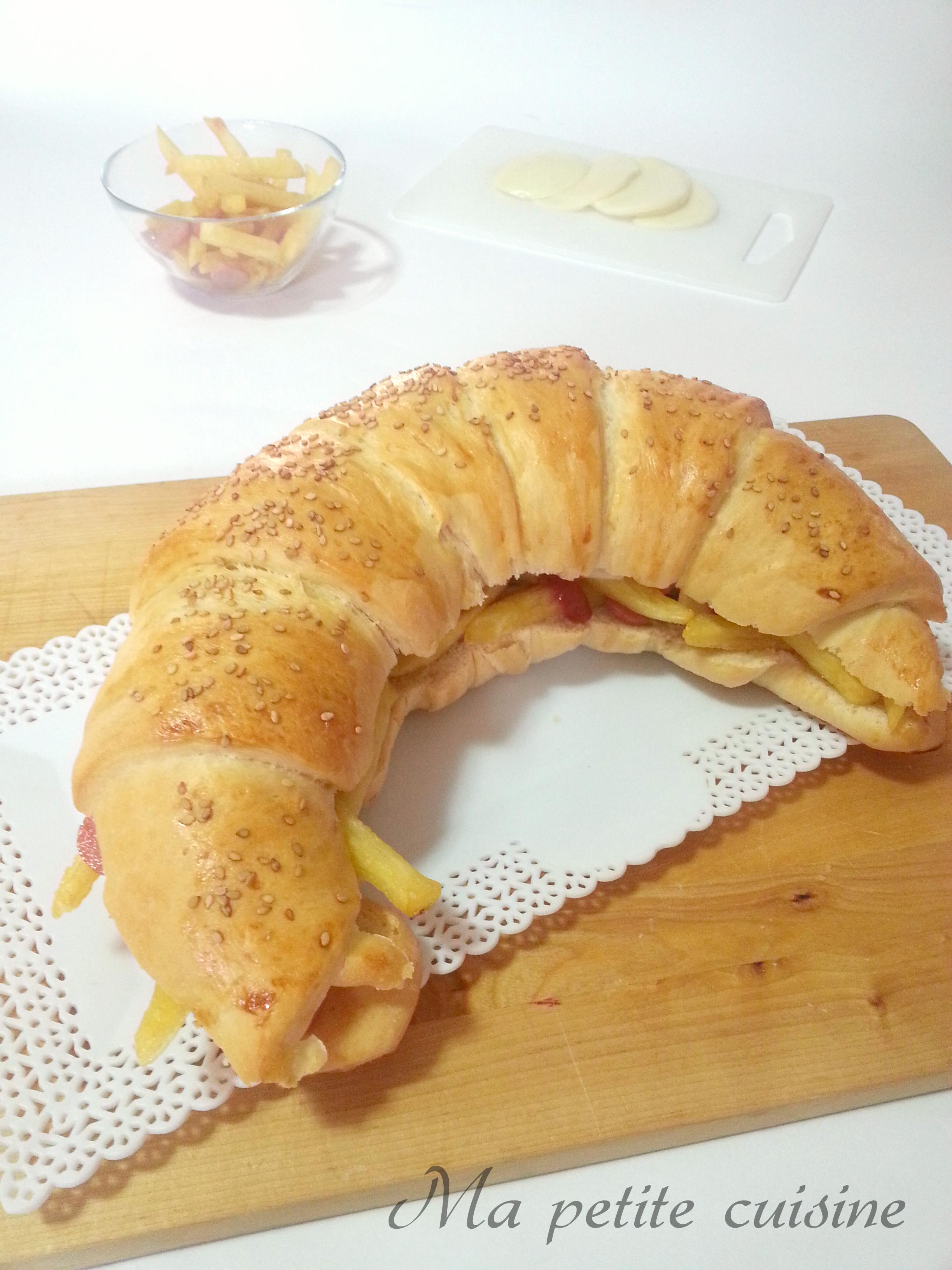 Cornettone ripieno wurstel e patatine ma petite cuisine for Ma cuisine petit chef