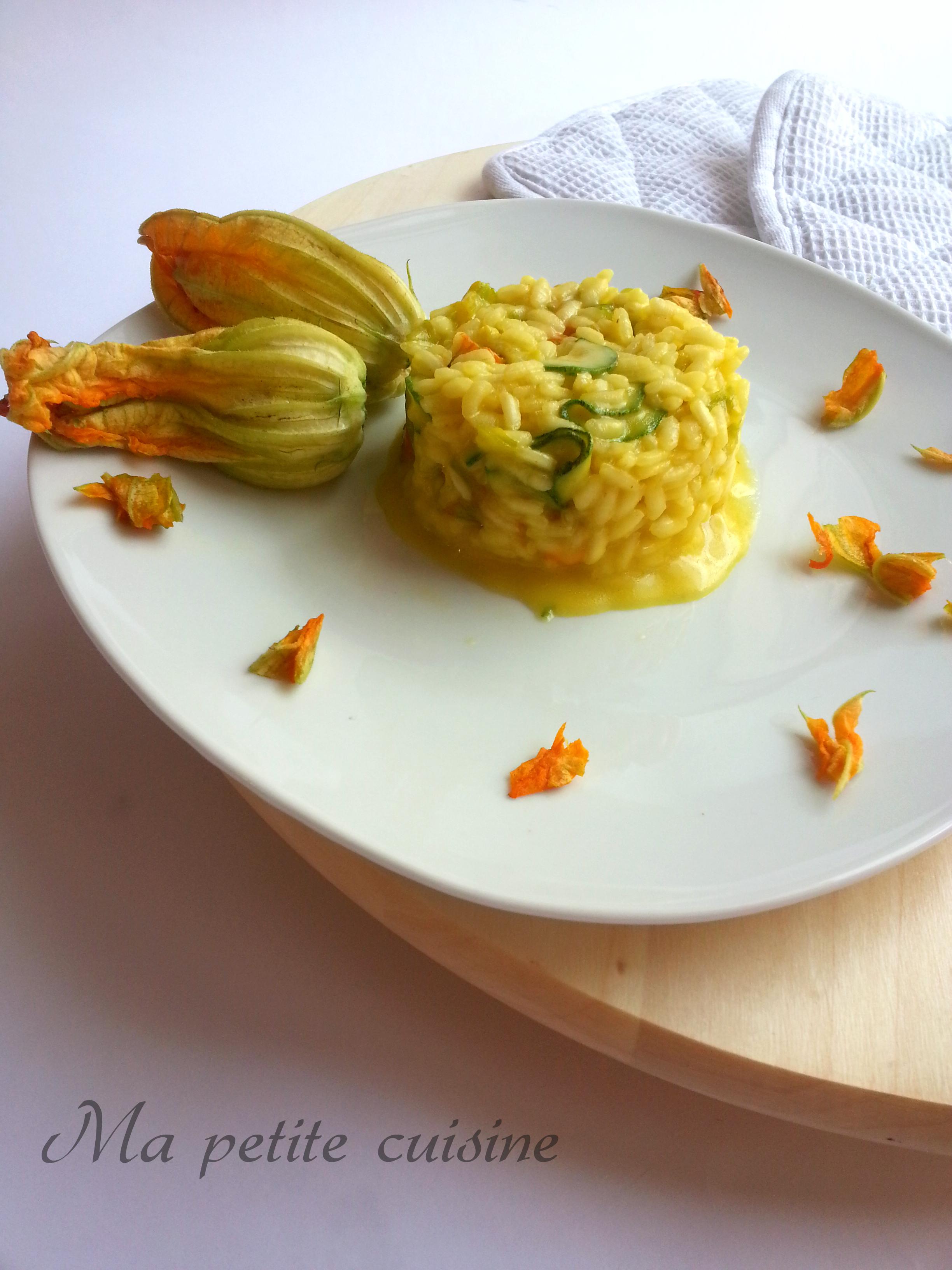 Risotto ai fiori di zucchine e zafferano ma petite cuisine - Ma petite cuisine by audrey ...