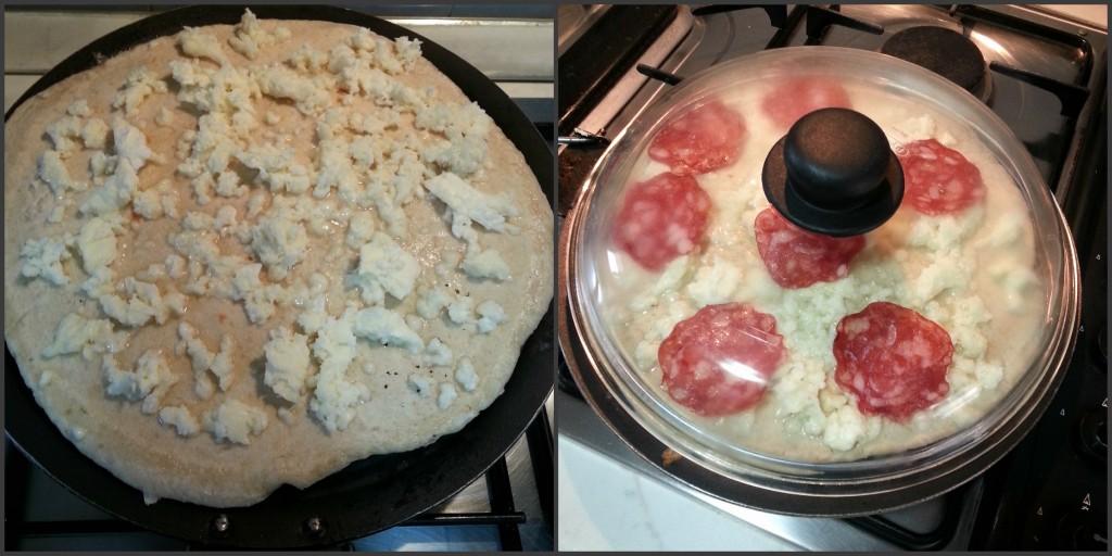 Pizza con lievito naturale cotta in padella