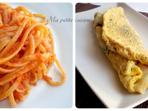 Linguine al sugo e omelette con Bimby