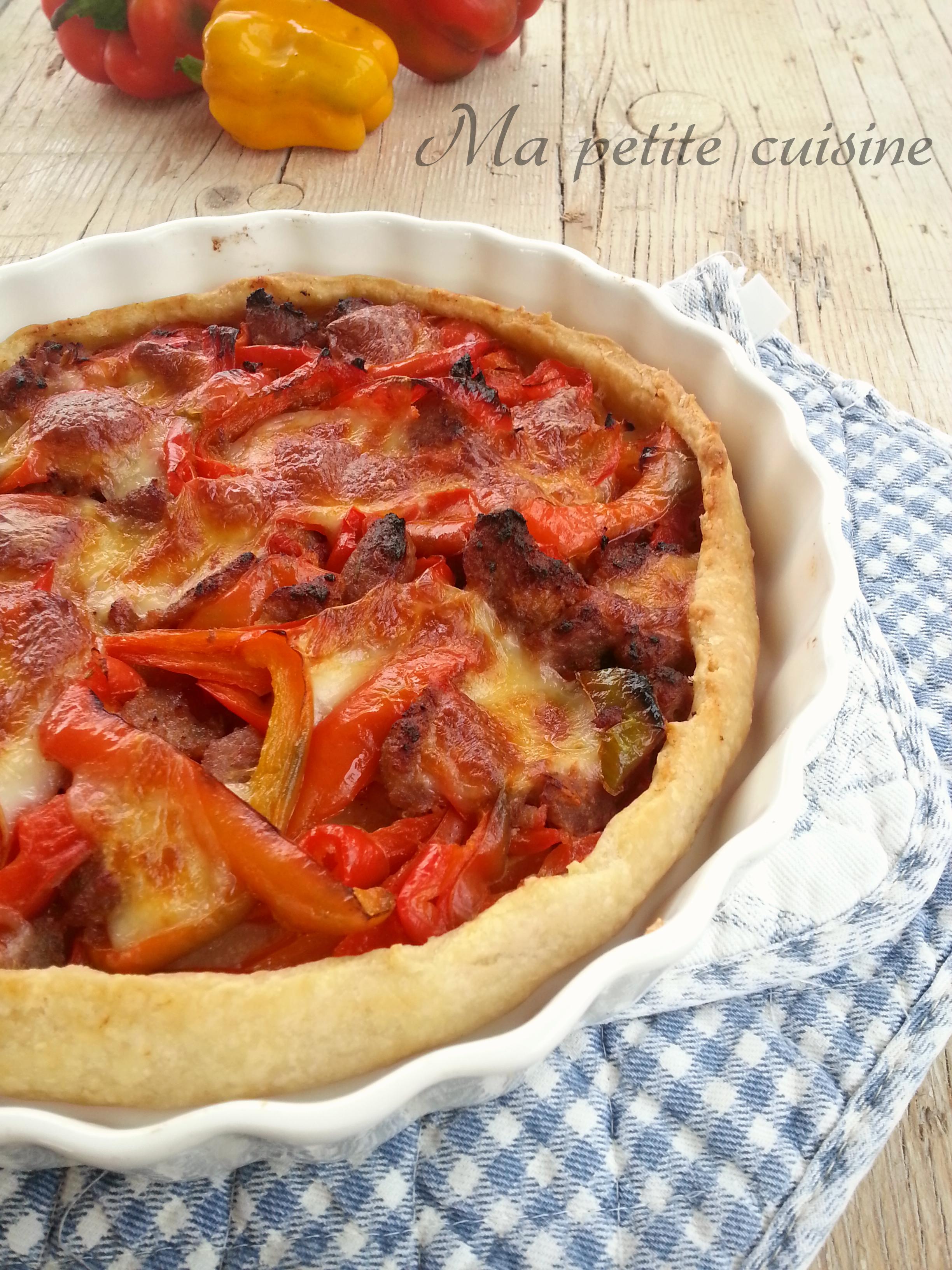 Torta salata salsicce e peperoni ma petite cuisine - Ma petite cuisine by audrey ...