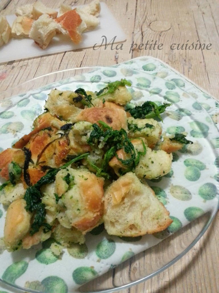 Pane fritto con broccoli