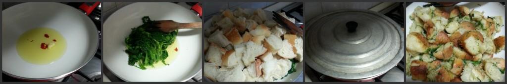 Pane cotto con i broccoli