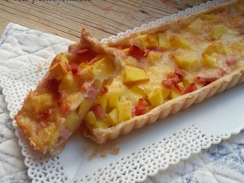 Torta salata prosciutto e formaggio