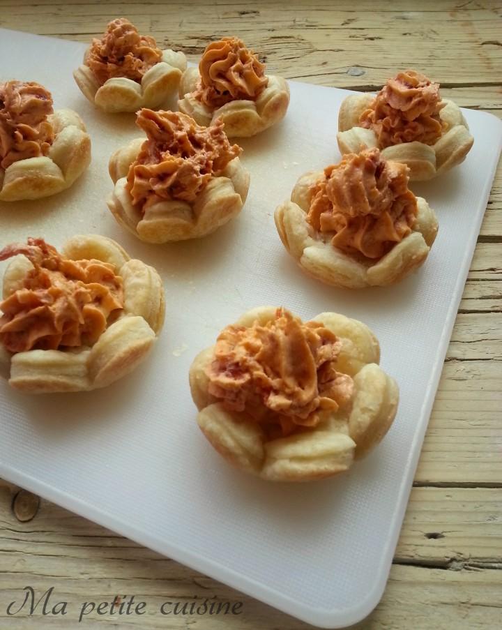Tartellette pomodori secchi e philadelphia