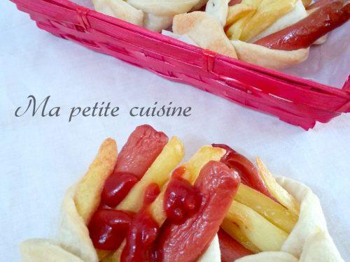 Sfizi con wurstel e patate