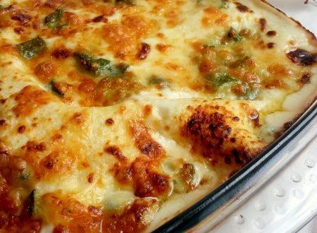 Lasagna alle zucchine e prosciutto