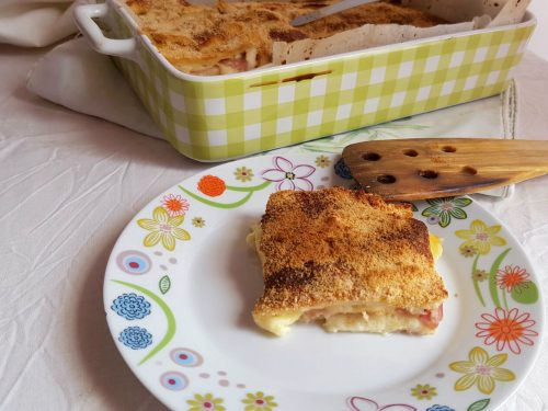 Parmigiana di pane bianco