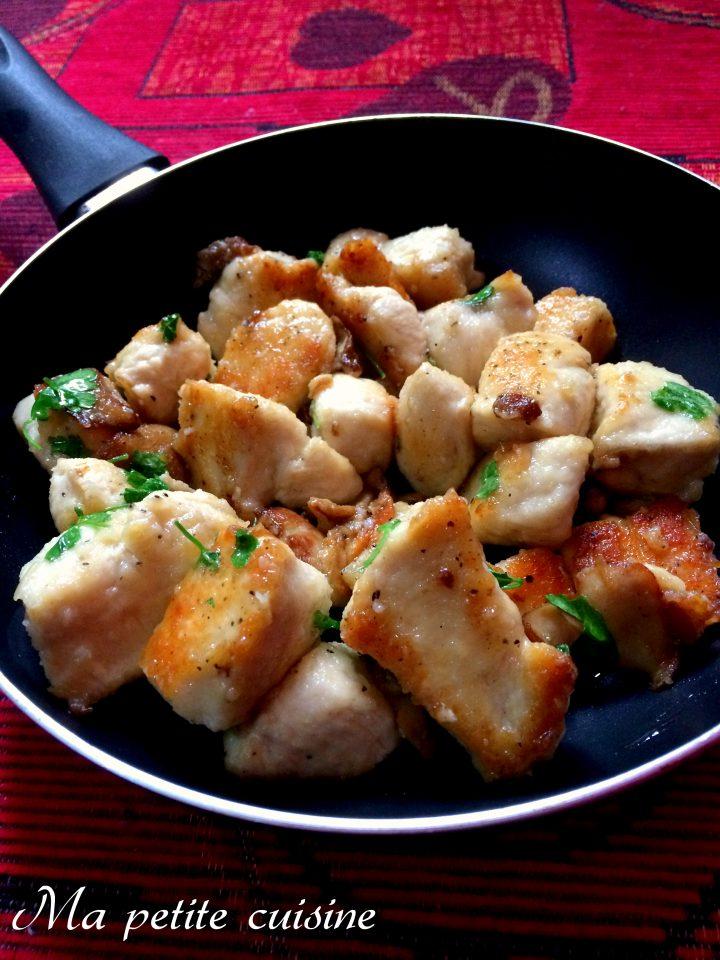 Bocconcini di pollo saporiti ai funghi porcini
