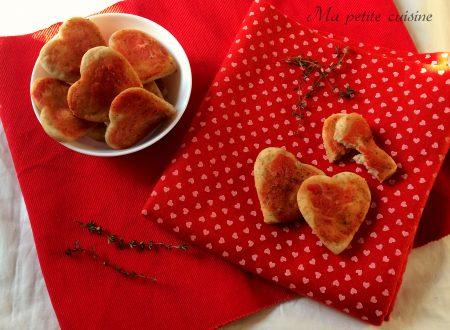 Pizzette integrali per San Valentino allo yogurt